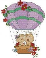 Ladybirds on a balloon
