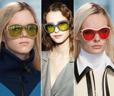 Fall/ Winter 2014-2015 Eyewear Trends: Semi-Transparent Sunglasses