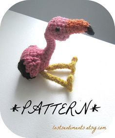 PATTERN for Flamingo Amigurumi Plush Toy  by by lostsentiments
