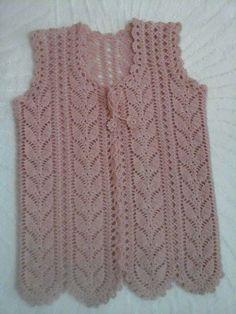 the long leaf motif vest finished – knitting news Pull Crochet, Crochet Baby, Knit Crochet, Knitting Designs, Knitting Patterns, Crochet Patterns, Jacket Pattern, Crochet Cardigan, T Shirt Diy