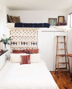 Making use of precious bedroom space done right