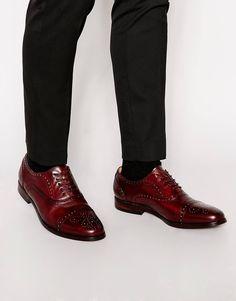 ALDO Xaveri Leather Oxford Brogue Shoes - Tan