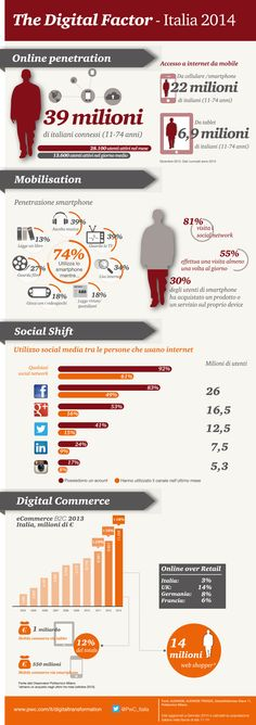 The Digital Factor 2014 Infographic: PwC overview of Italian landscape