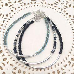Silver Bar Friendship bracelet-Minimalist Bead Bracelet-bridesmaids gifts-gifts for her-stackable bracelets-tube bar-audriasprettypieces