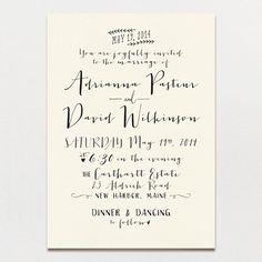 Modern Calligraphy Wedding Invitation | Printable Press