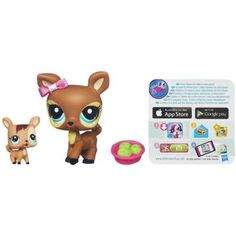 Littlest Pet Shop Favorite Pets Dear and Baby 3.99