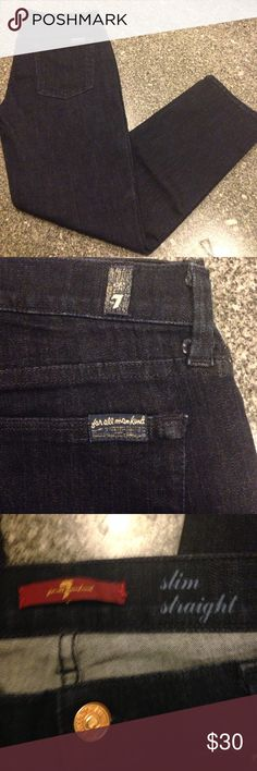 7 for all mankind jeans 32 like new Like new. Dark denim. 7 For All Mankind Jeans Skinny