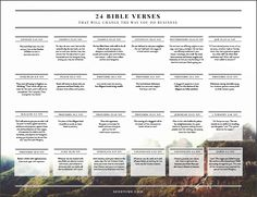 24 bible verses about business