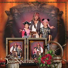 Jack Sparrow Disney Fantasy - Right Side - MouseScrappers - Disney Scrapbooking Gallery Cruise Scrapbook Pages, Disney Fantasy, Jack Sparrow, Disney Cruise Line, Sea World, Cruise Vacation, Making Memories, Scrapbooking Ideas, Scrapbook Layouts