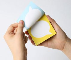 Speech Bubble Double Sided Memo Pad note memo by FunDesignFair