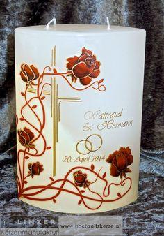 Ich fertige einzigartige Hochzeitskerzen nach individuellen Wünschen an. Ein Unikat für jedes Brautpaar. 100%ige Handarbeit aus Oberösterreich. Sie können nicht nur die Verzierung, sondern auch die Form der Kerze selbst bestimmen, da wir auch die Rohlinge nach Kundenwunsch selbst herstellen. Kerze mit Holz, Mantelkerze, Kerze mit Mineralien, Achat, Meteorit, Hochzeit selbstgemacht Standesamt Kirche Hochzeitsbrauch Geschenk Dekoration Kerze deko Trauung Trauspruch Kerzenshop… Form, Pillar Candles, Candles, Candle Decorations, Embellishments, Decorations