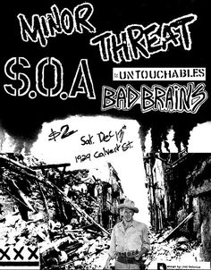 Minor Threat, S.O.A., The Untouchables + Bad Brains @ Calvert Street, Washington, DC (1980-12-13)