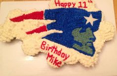 New England Patriots Cupcake Cake