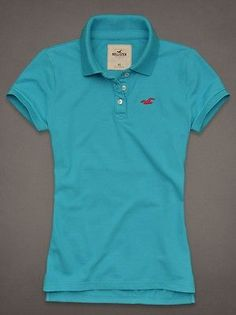 hollister blue polo shirt