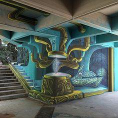 Αυτό είναι το νέο περίτεχνο γκράφιτι του WD στην Αθήνα...Στην Πολυτεχνειούπολη του Ζωγράφου το νέο του έργο «House of Venom» WD (aka Wild Drawing)  street artist