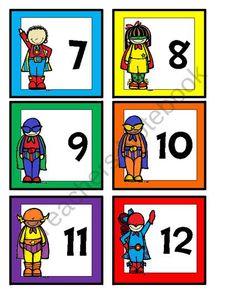 Superhero Calendar Cards FREE