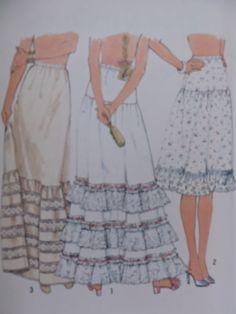Cool Patterns, Vintage Patterns, Stitch Patterns, Sewing Patterns, Lingerie Patterns, Fashion Patterns, Stage Play, Costume Patterns, Petticoats