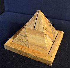 Wooden pyramid #puzzle #handmade in #Thailand! #fairtrade