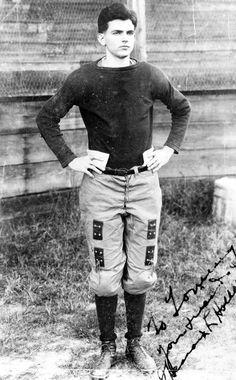 Future Florida Governor Spessard Holland in his football gear. (1912) | Florida Memory