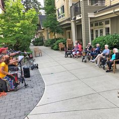 Our residents at Thornebridge Gardens Retirement Residence in New Westminster enjoyed an afternoon of music in the courtyard! 😄☀️ #vervecares #community #goodtimes #summervibes #entertainment Senior Living Communities, Emergency Response, Assisted Living, Westminster, Summer Vibes, Good Times, Retirement, Gardens, Entertainment