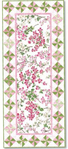 FREE Quilt Pattern - Dogwood Trail Tablerunner Pattern by Sentimental Studios by Moda