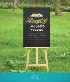 Items similar to Unplugged Chalkboard Wedding Sign . PRINT or PDF, Shipping Included. No Cameras Unplugged Ceremony . Vintage Floral Rustic Wedding Custom on Etsy Wedding Ceremony Ideas, Wedding Signs, Wedding Bells, Trendy Wedding, Rustic Wedding, Wedding Vintage, Wedding Trends, Summer Wedding, Dream Wedding