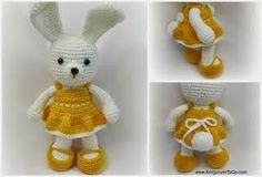 Dress Me Bunny Crochet Pattern by Sharon Ojala | 2000 Free Amigurumi Patterns