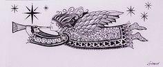 Zentangle Angle Beautiful Artwork, Painting & Drawing, Zentangle, Doodles, Paintings, Drawings, Angels, Reading, Books