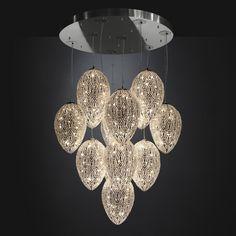 Glass chandelier EGGS ARABESQUE 7511012.00 - VGnewtrend