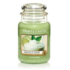 Vanilla Lime: Yankee Candle:  Smooth and refreshing - the creamy richness of vanilla with sweet cane sugar and a zesty lime twist.