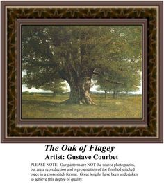 The Oak of Flagey, Fine Art Counted Cross Stitch Pattern also available in Kit and Digital Download #pinterestcrossstitchpattern #pinterestgifts #fineartcrossstitchpatterns