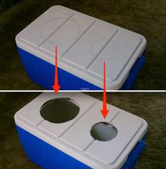 holes! homemade air conditioner
