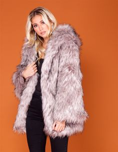 It's the season for faux fur, so add the Charley oversized grey faux fur coat to your wardrobe. This grey faux fur coat will ensure you beat the chill in style. Wear it over an evening dress or during the day with some off-duty jeans and ankle boots.
