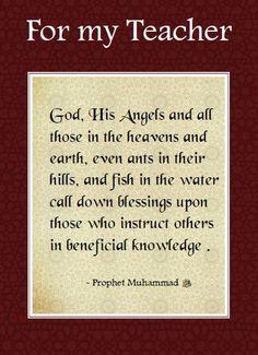 Teacher Card What Is Evil, Islamic World, Prophet Muhammad, Heaven On Earth, My Teacher, Ramadan, Allah, Eid Decorations, Religion