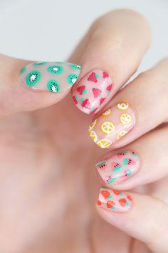 nail art diy * nail art designs ` nail art ` nail art designs for spring ` nail art videos ` nail art designs easy ` nail art designs summer ` nail art diy ` nail art tutorial Diy Nail Designs, Acrylic Nail Designs, Fruit Nail Designs, Nail Designs For Kids, Cute Easy Nail Designs, Pedicure Designs, Pretty Nail Art, Beautiful Nail Art, Cute Summer Nails