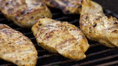 Yogurt-Marinated Grilled Chicken - Epicurious - This marinade is very tasty and perfect for grilling chicken breast. Be sure not to skip the pounding part (like I did) to avoid the thinner tips from drying out. Healthy Grilling, Grilling Recipes, Cooking Recipes, Healthy Recipes, Barbecue Recipes, Healthy Meats, Barbecue Ribs, Grilling Tips, Smoker Recipes