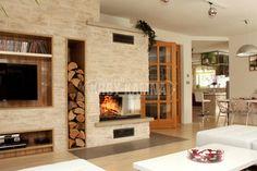Horkovzdušný krb s krbovou vložkou Spartherm Varia v obestavbě z… Firewood, Living Room, Design, Home Decor, Fireplaces, Environment, Ideas, Salons, Woodwind Instrument
