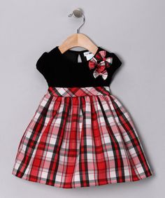 Take a look at this Black & Red Hazel Dress - Infant by Joe-Ella on #zulily today!