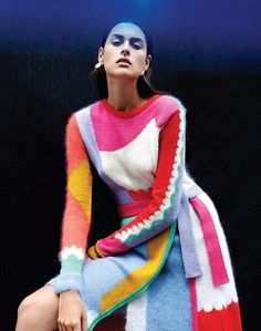 Raffaela Graspointner | Dazed...autumn winter2014 asymmmetric , textural edgy layering and knitwear in colour block contemporary mexican , ethnic , boho gypsy style...frida inspired fashion