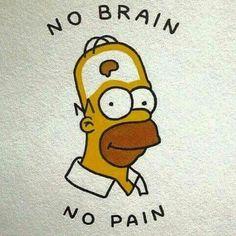 Doooh No brain no pain wallpaper funny D'oooh No brain no pain – - diy tattoo images Simpsons Tattoo, Simpsons Drawings, Funny Drawings, Quote Drawings, Funny Sketches, Random Drawings, Funny Phone Wallpaper, Funny Wallpapers, Cartoon Wallpaper