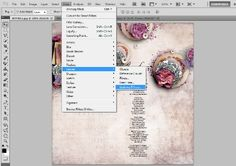 using lighting effects on a scrapbook page