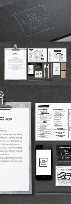 The Rustic Bistro - Modern Inspired Western Cuisine by Rayz Ong, via Behance