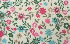 Bamboo Fabric Forest Print Twill Weave Floral by EcoFabricStore