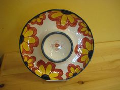 Chip and dip bowl with flowers