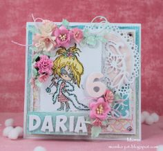 Card by DT member Monika with many Marianne Design dies and stamp Daisy Diva (DDS3339)