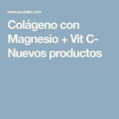 Colágeno con Magnesio + Vit C- Nuevos productos