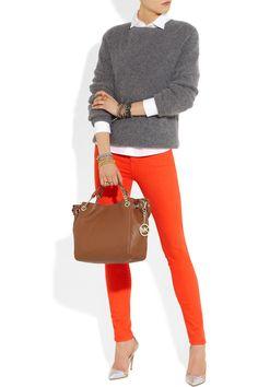 MICHAEL Michael Kors|Jet Set leather shoulder bag|NET-A-PORTER.COM