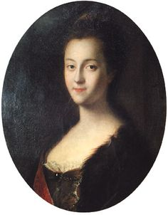 La granduchessa Caterina dipinta nel 1745 da Louis Caravaque.