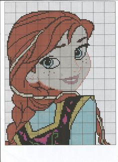 Anna & Elsa Cross Stitch Chart by LittleKissesCrafts on Etsy