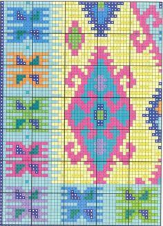 Weaving Patterns, Crochet Patterns, Tapete Floral, Crochet Blanket Tutorial, Intarsia Knitting, Latch Hook Rugs, Fair Isle Pattern, Tapestry Crochet, Filet Crochet